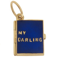 "Vintage ""My Darling"" 14k Book Locket"