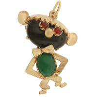 Vintage Silly Monkey 18k Gold Charm
