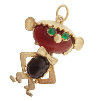 Vintage Other Silly Monkey 18k Gold Charm