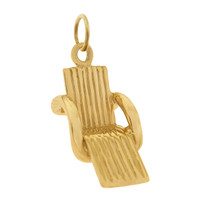 Pool Chair 14k Gold Charm