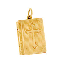 Vintage Bible Locket 14K Gold Charm