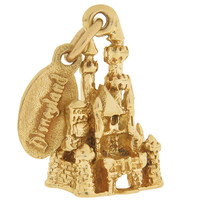 Vintage Disneyland with Tag 14k Gold Charm
