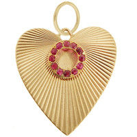 Vintage Heart With Endless Circle 14k Gold Charm