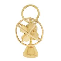 Vintage Fan 14K Gold Charm