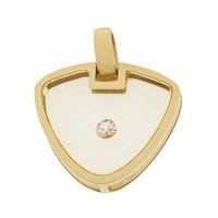 Vintage Floating Diamond Lock 14k Gold Charm