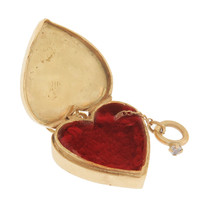 Vintage Ring Box 14k Gold Charm