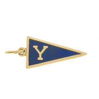 Vintage Yale College Pennant 14k Gold Charm