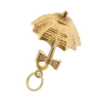 Vintage Umbrella For Two 14k Gold Charm