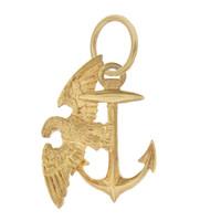 Vintage Marine Corps Eagle Emblem 14k Gold Charm