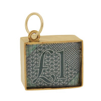 Vintage One Pound Note In Emergency 9k Gold Charm