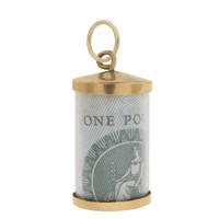 Vintage One Pound 9k Gold Charm