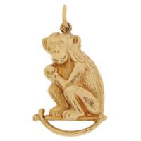 Vintage Monkey 9k Gold Charm