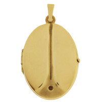 Vintage Egyptian Scarab Photo Locket 14k Gold Charm