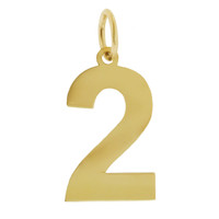 Numbers Collection 14K Gold Charm, 1-9