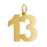 Numbers Collection 14K Gold Charm, 10-99