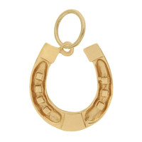 Horseshoe 14k Gold Charm