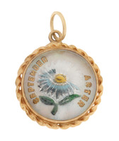 "Vintage ""September Aster"" 14k Gold Charm"