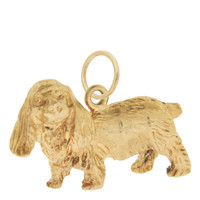 Vintage Dog - Cocker Spaniel 14k Gold Charm