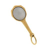 Vintage Hand Mirror 10k Gold Charm