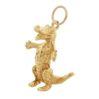 "Vintage University of Florida ""Gator"" 14k Gold Charm"