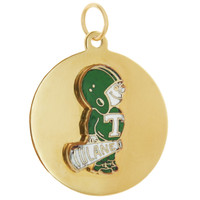 Vintage Tulane University Football 14k Gold Charm