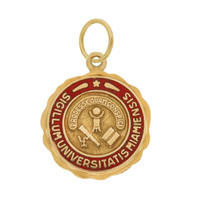 Vintage Miami University Seal 14k Gold Charm
