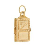 """Vintage """"Bon  Voyage"""" Trunk 14K Gold Charm"""