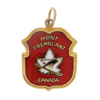 Vintage Mount Tremblant Shield 10k Gold Charm