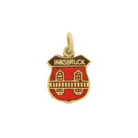 Vintage Innsbruck Shield 14k Gold Charm