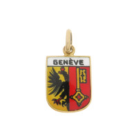 Vintage Geneve Coat of Arms 14k Gold Charm