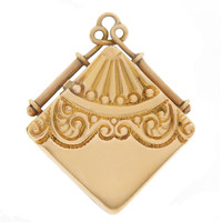 Vintage Art Nouveau Diamond Shaped Locket 14k Gold Charm