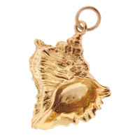 Large Spiky Conch Seashell 14k Gold Charm
