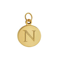 Small Classic Disc 14K Gold Engravable Charm