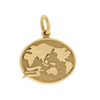Vintage Tiffany World Map 14k Gold Charm