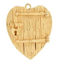 Vintage Prisoner of Love 14k Gold Charm