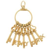 Vintage Keys To New York  14k Gold Charm