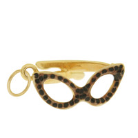 Vintage Leopard Cat's Eye Glasses 14k Gold Charm