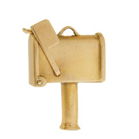 Vintage Movable Mailbox 14K Gold Charm