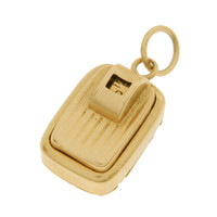 Vintage Bathroom Scale 14k Gold Charm