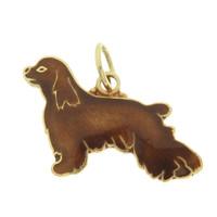 Vintage Dog - Brown Cocker Spaniel 14k Gold Charm