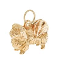 Vintage Dog - Pekingese 10k Gold Charm