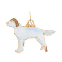Vintage Dog - Brown Ear Puppy 14k Gold Charm