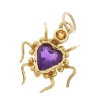 Vintage Love Bug 14k Gold Charm
