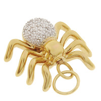 Vintage Diamond Spider 10k Gold Charm