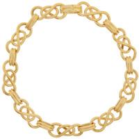 Vintage Twisted Infinity Link 14k Gold Charm Bracelet