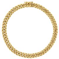 Vintage Curb Bracelet 14k Gold Charm Bracelet