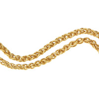 Vintage Rounded Wheat 14k Gold Charm Necklace