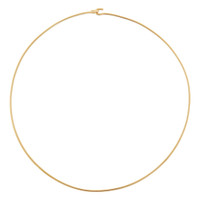 Vintage Wire Collar 14k Gold Charm Necklace