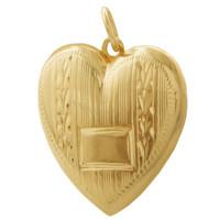 Vintage Art Deco Heart Locket 14k Rose Gold Charm