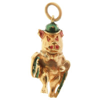 Vintage Business Pig 9k Gold Charm
